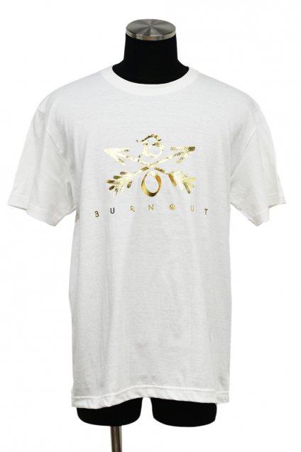 Burnout(バーンアウト) Crossed Arrows T-Shirt 2019 / ホワイト×金箔