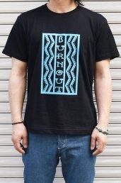 Burnout(バーンアウト) Lightning box pattern Tシャツ / ブラック