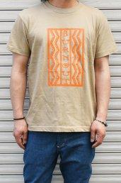 20%off! BURNOUT(バーンアウト) Lightning box pattern Tシャツ / サンドカーキ