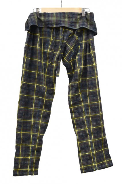 ARIGATO FAKKYU - アリガトファッキュ TAPERED THAI PANTS / YELLOW LINE
