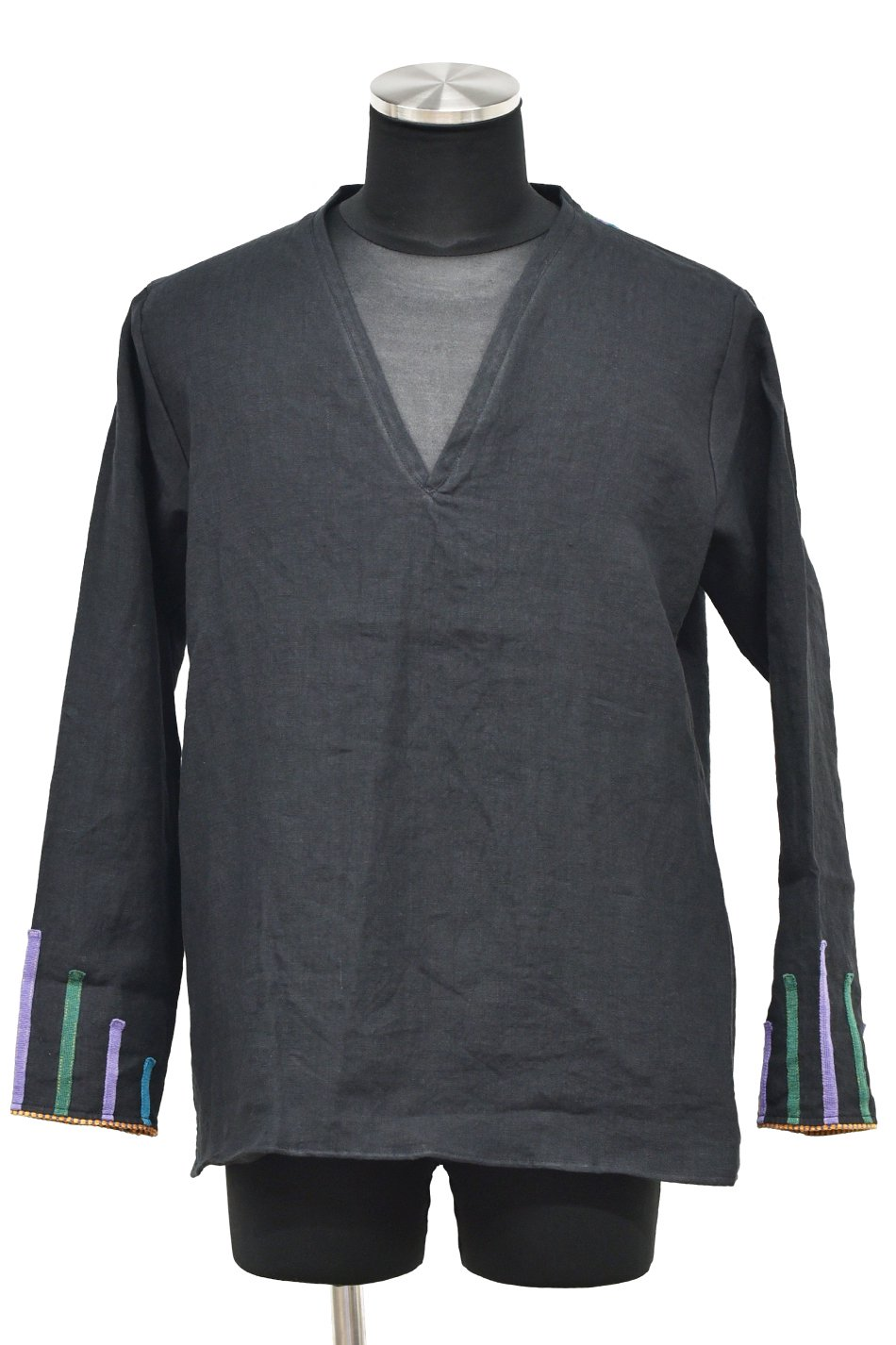 ARIGATO FAKKYU - アリガトファッキュ LINEN V-NECK PULL OVER / BLACK<img class='new_mark_img2' src='https://img.shop-pro.jp/img/new/icons5.gif' style='border:none;display:inline;margin:0px;padding:0px;width:auto;' />