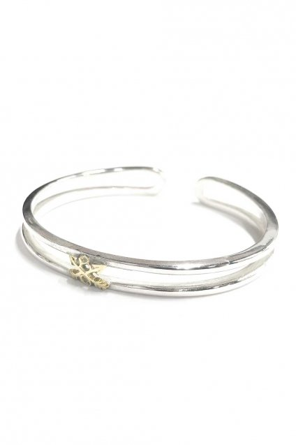 ☆再入荷!!BURNOUT(バーンアウト )Crossed Arrows Layered Bangle