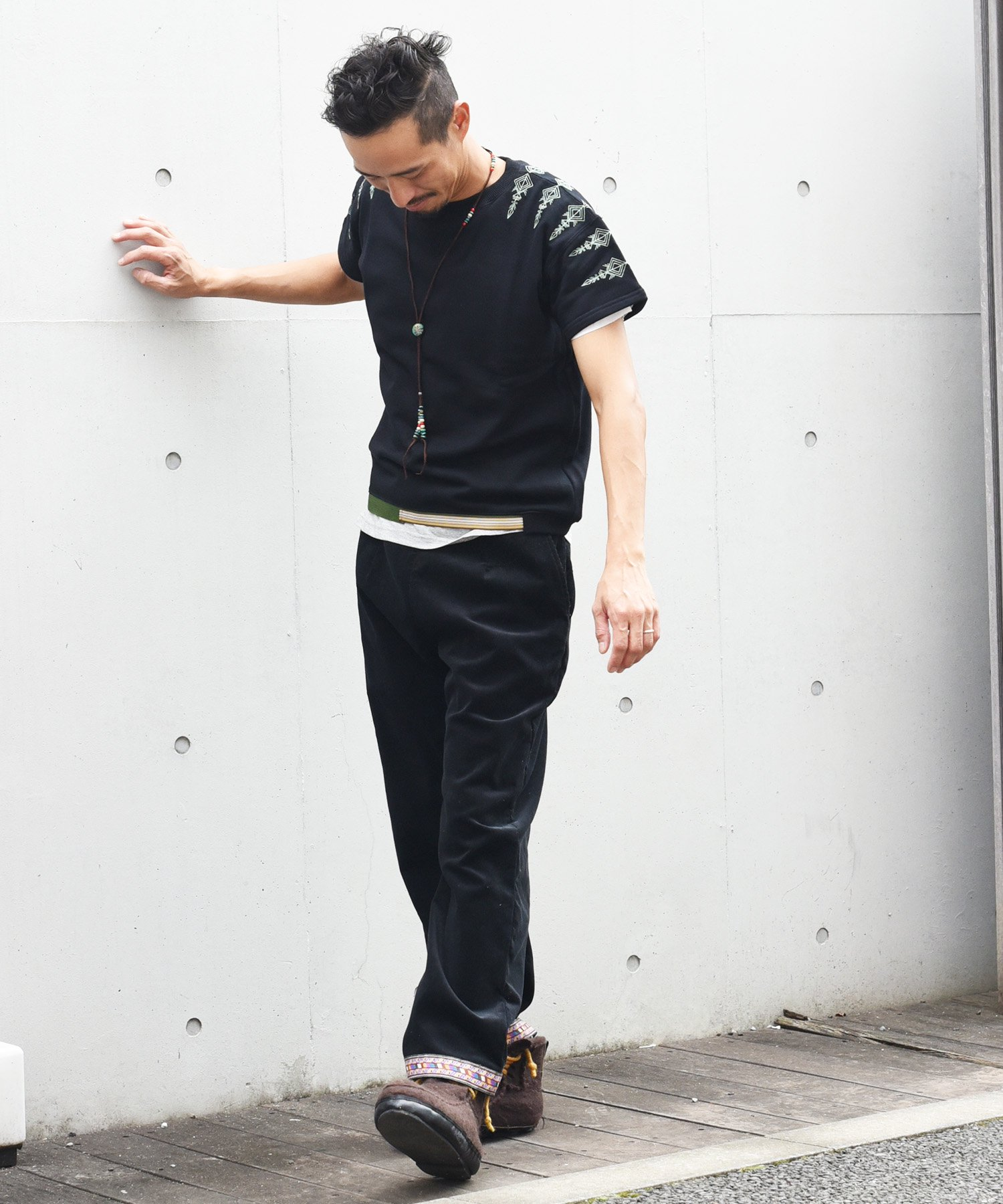 ARIGATO FAKKYU - アリガトファッキュ EMBROIDERY SWEAT / BLACK<img class='new_mark_img2' src='https://img.shop-pro.jp/img/new/icons5.gif' style='border:none;display:inline;margin:0px;padding:0px;width:auto;' />
