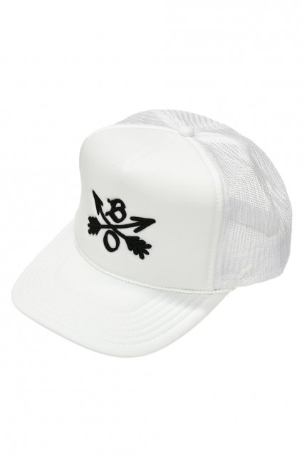 Burnout(バーンアウト)Crossed Arrows Mesh Cap / 3D Embroidery / ホワイト