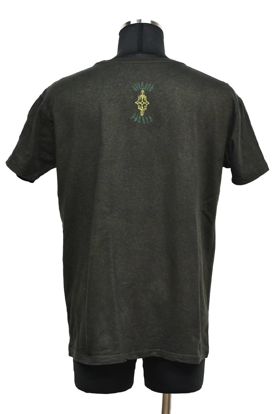 【T-Shirt FES】ARIGATO FAKKYU(アリガトファッキュ)HEMP TEE-T  / 後染め黒