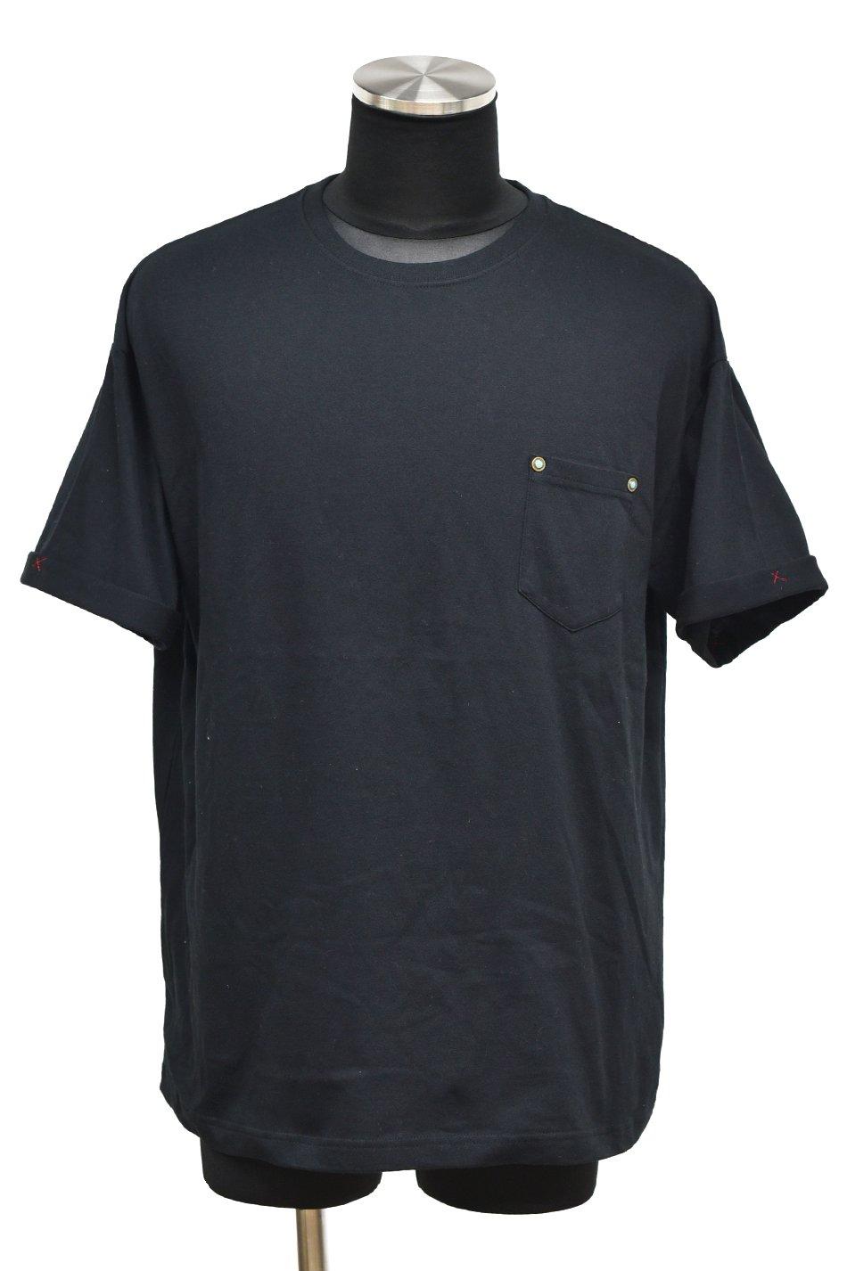 10%off! 【T-Shirt FES】BURNOUT(バーンアウト)ポケット付きビッグTシャツ / ブラック