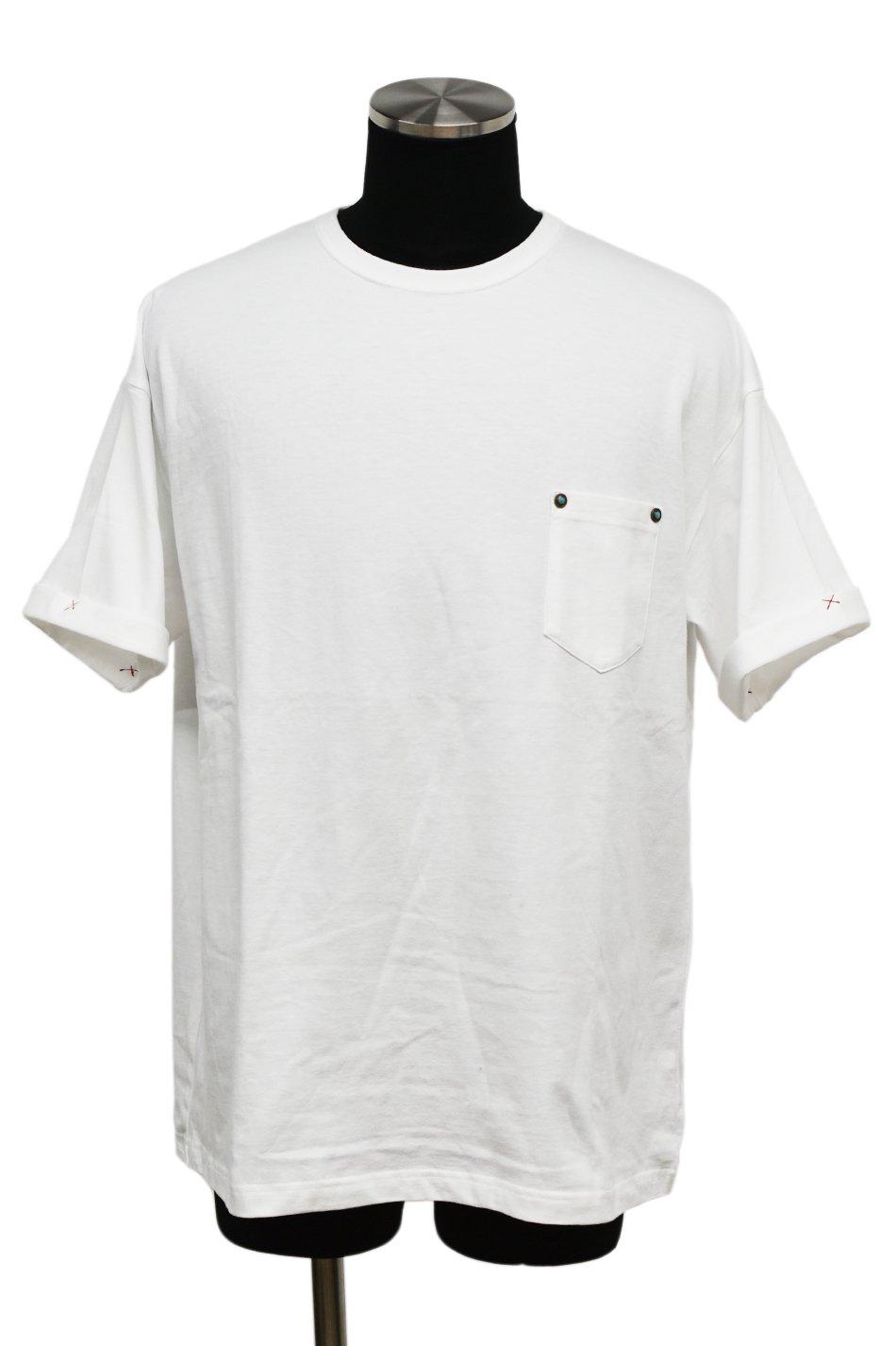 40%off! 【T-Shirt FES】BURNOUT(バーンアウト)ポケット付きビッグTシャツ / ホワイト
