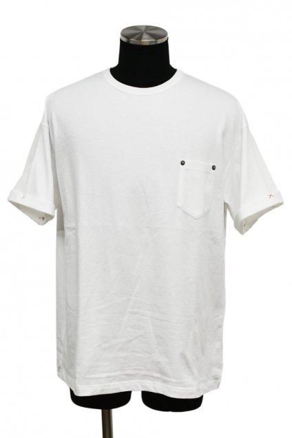 ★受注生産予約 【T-Shirt FES】BURNOUT(バーンアウト)ポケット付きビッグTシャツ / ホワイト<img class='new_mark_img2' src='https://img.shop-pro.jp/img/new/icons5.gif' style='border:none;display:inline;margin:0px;padding:0px;width:auto;' />