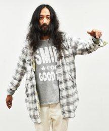 BURNOUT(バーンアウト )サイドポケット付き セミロングシャツ / ホワイト
