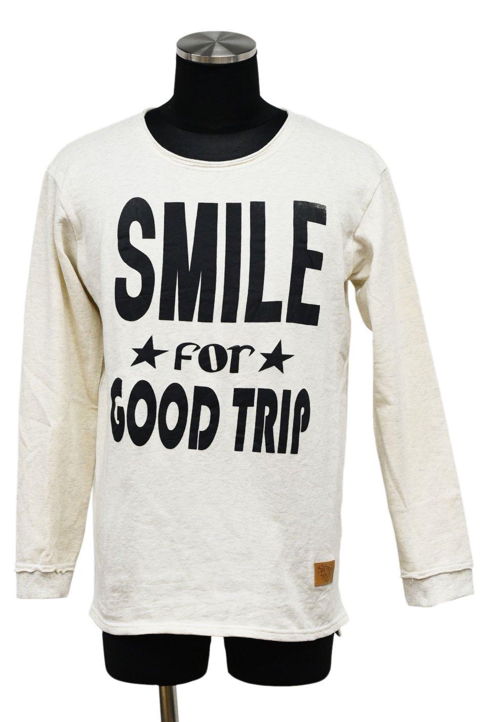 BURNOUT(バーンアウト )【SMILE】ロングスリーブカットソー / オートミール