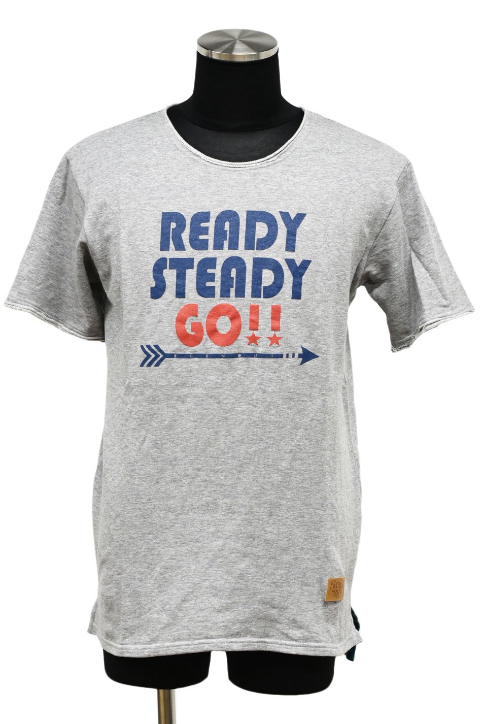 BURNOUT(バーンアウト )【READY STEADY GO !! 】ショートスリーブカットソー / ライトグレー<img class='new_mark_img2' src='https://img.shop-pro.jp/img/new/icons5.gif' style='border:none;display:inline;margin:0px;padding:0px;width:auto;' />