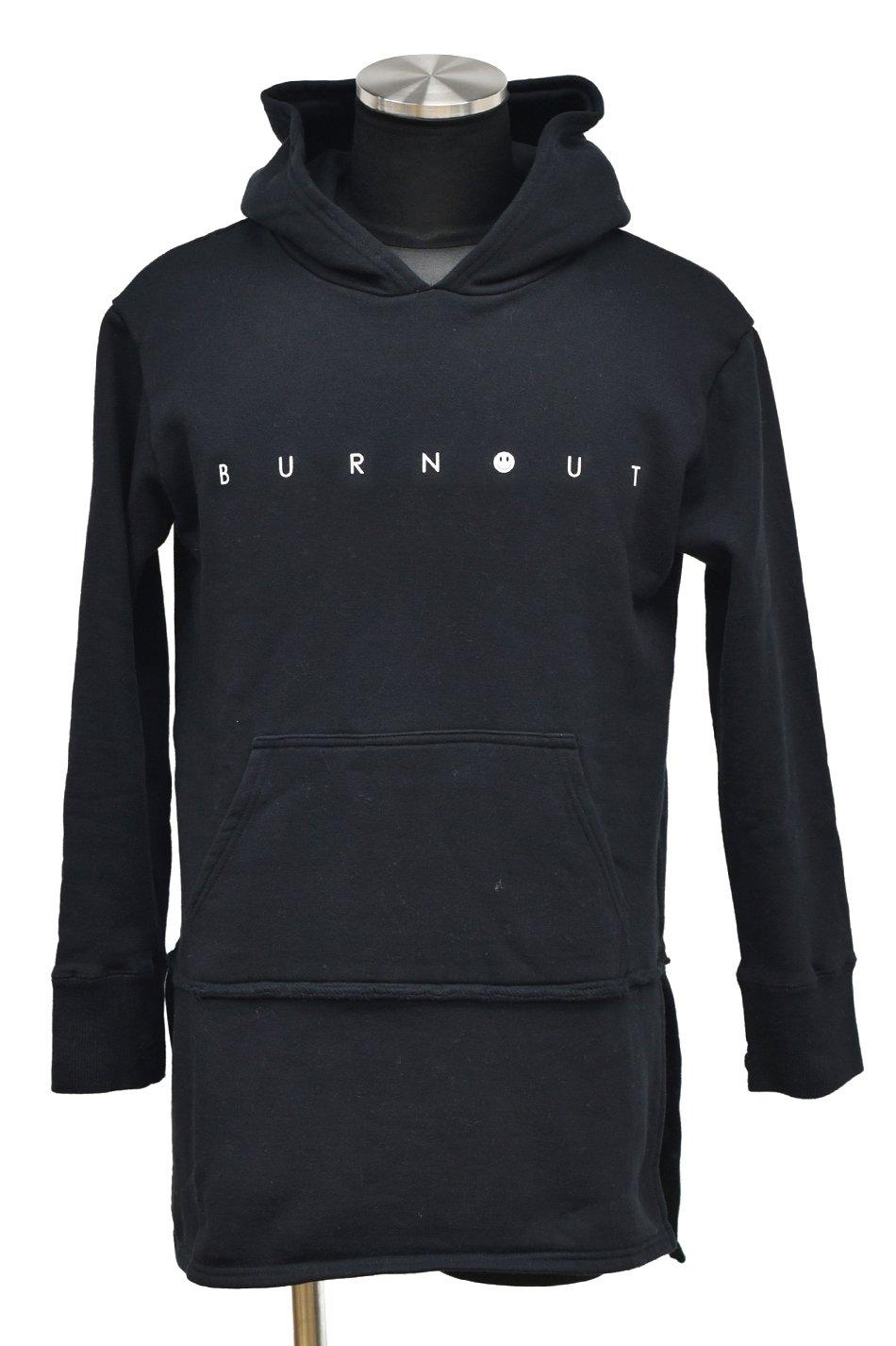 BURNOUT(バーンアウト )【BURNOUT】カットバック フーディー / ブラック