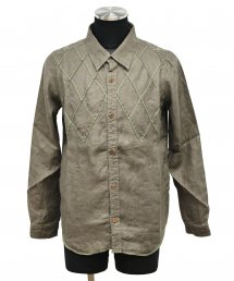ARIGATO FAKKYU - アリガトファッキュ PATCH WORK SHIRT JACKET / KHAKI