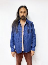 ARIGATO FAKKYU - アリガトファッキュ PATCH WORK SHIRT JACKET / INDIGO