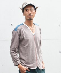 ARIGATO FAKKYU - アリガトファッキュ CUT BACK LONG T-SHIRT / KHAKI<img class='new_mark_img2' src='https://img.shop-pro.jp/img/new/icons5.gif' style='border:none;display:inline;margin:0px;padding:0px;width:auto;' />