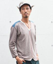 ARIGATO FAKKYU - アリガトファッキュ CUT BACK LONG T-SHIRT / KHAKI