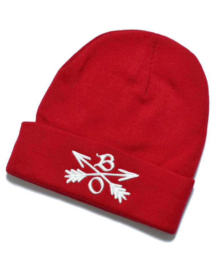 BURNOUT(バーンアウト )Crossed Arrows Knit Cap / Red<img class='new_mark_img2' src='https://img.shop-pro.jp/img/new/icons59.gif' style='border:none;display:inline;margin:0px;padding:0px;width:auto;' />