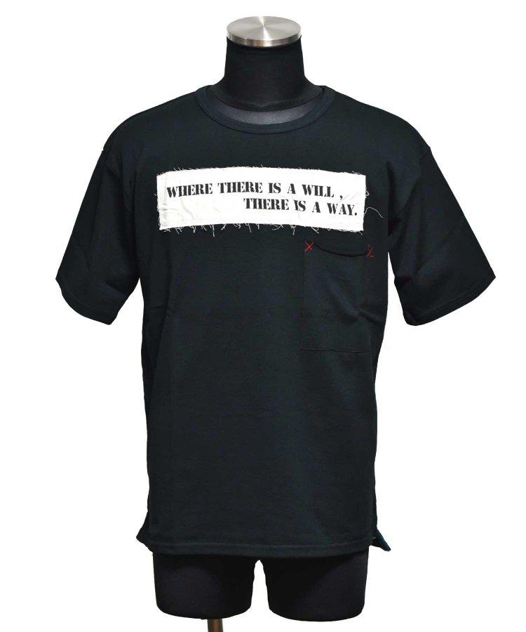 BURNOUT(バーンアウト )ポケット付き ワイドショートスリーブTシャツ / ブラック