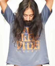 【6周年感謝祭 50%off!】Burnout〔バーンアウト〕 VIVA LA VIDA ワイドショートスリーブTシャツ(Blue Gray)