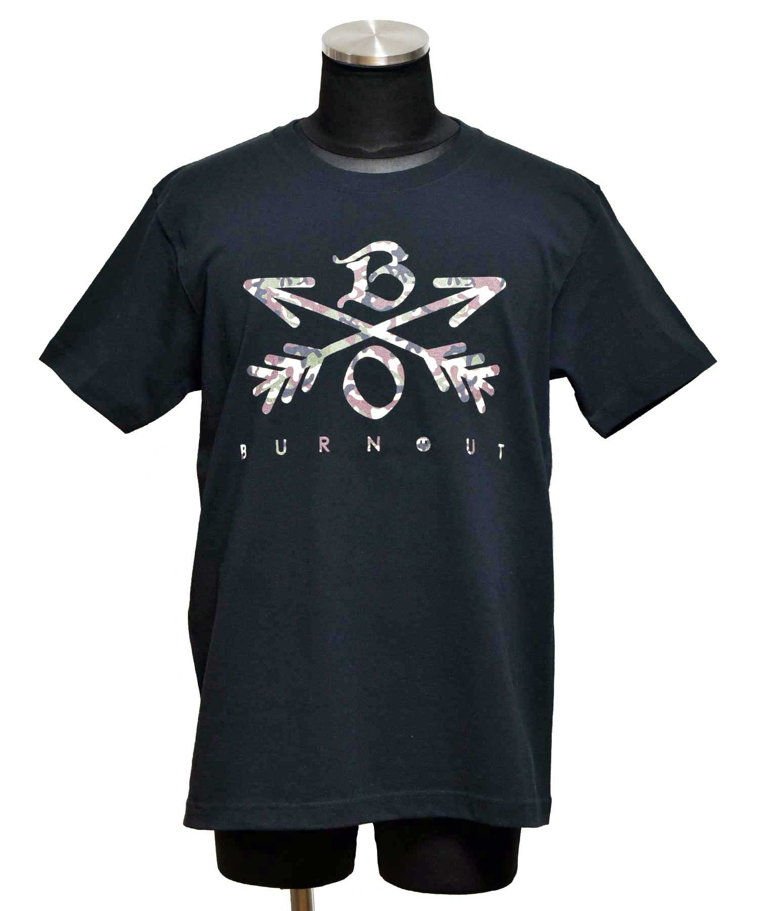 Burnout(バーンアウト) Camouflage Crossed Arrows T-Shirt 2020 / ブラック<img class='new_mark_img2' src='https://img.shop-pro.jp/img/new/icons5.gif' style='border:none;display:inline;margin:0px;padding:0px;width:auto;' />