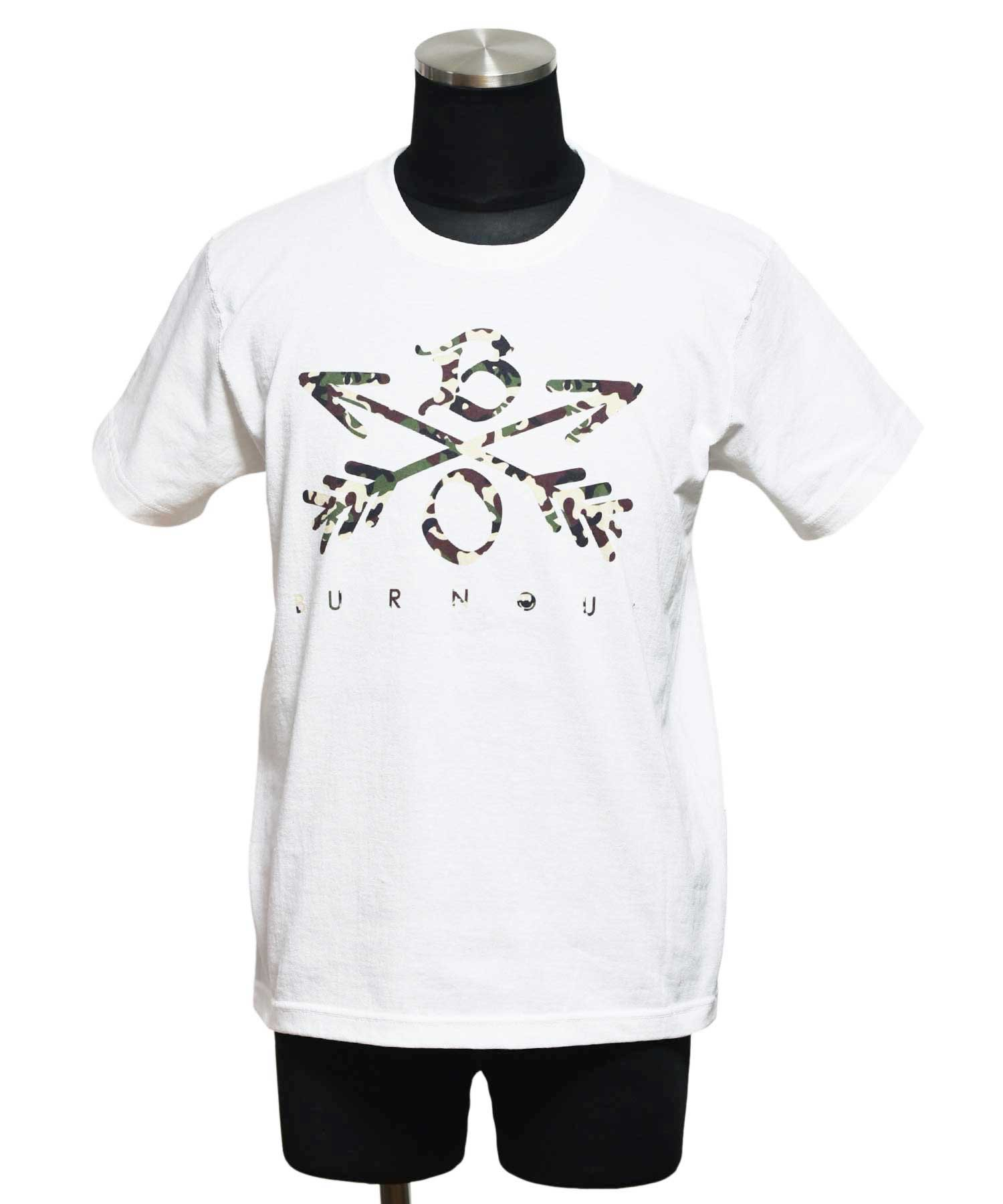 Burnout(バーンアウト) Camouflage Crossed Arrows T-Shirt 2020 / ホワイト<img class='new_mark_img2' src='https://img.shop-pro.jp/img/new/icons5.gif' style='border:none;display:inline;margin:0px;padding:0px;width:auto;' />
