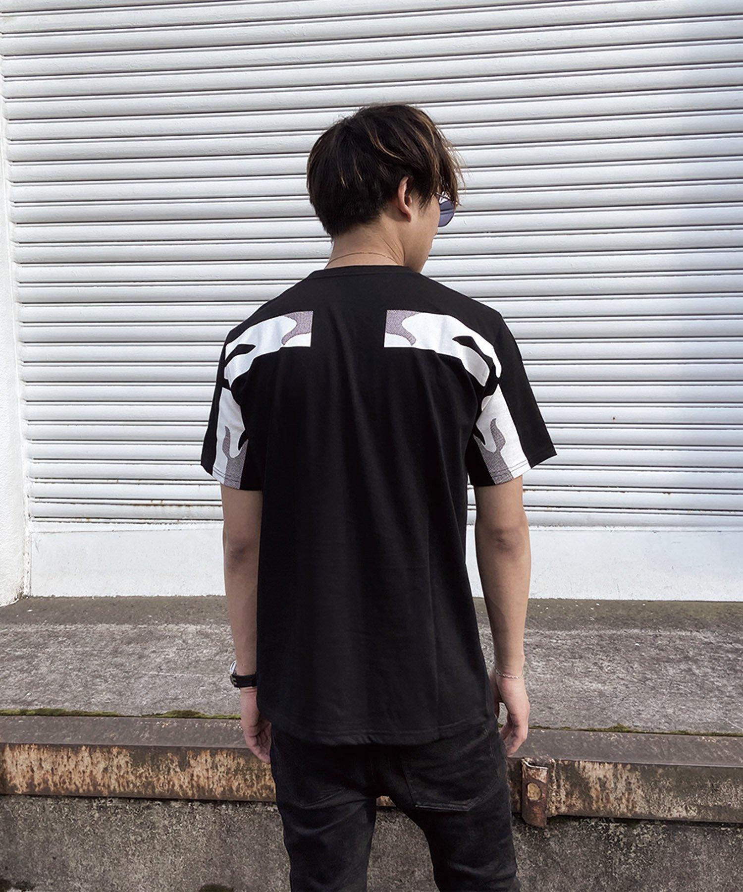qwerty - クワーティ Back Hide BlackCamo T-shirt / BLACK