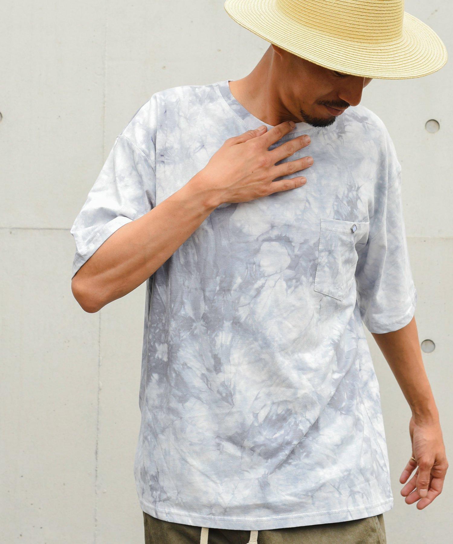 Burnout(バーンアウト) ビッグシルエット tie-dye Tee PK.T-shirts(ライトグレー)