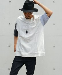 Burnout(バーンアウト )Crossed arrows crazy short sleeve sweat wide pullover(CrazyGray)