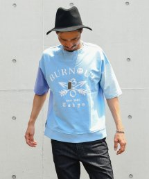 Burnout(バーンアウト )Crossed arrows crazy short sleeve sweat wide pullover(CrazySax)