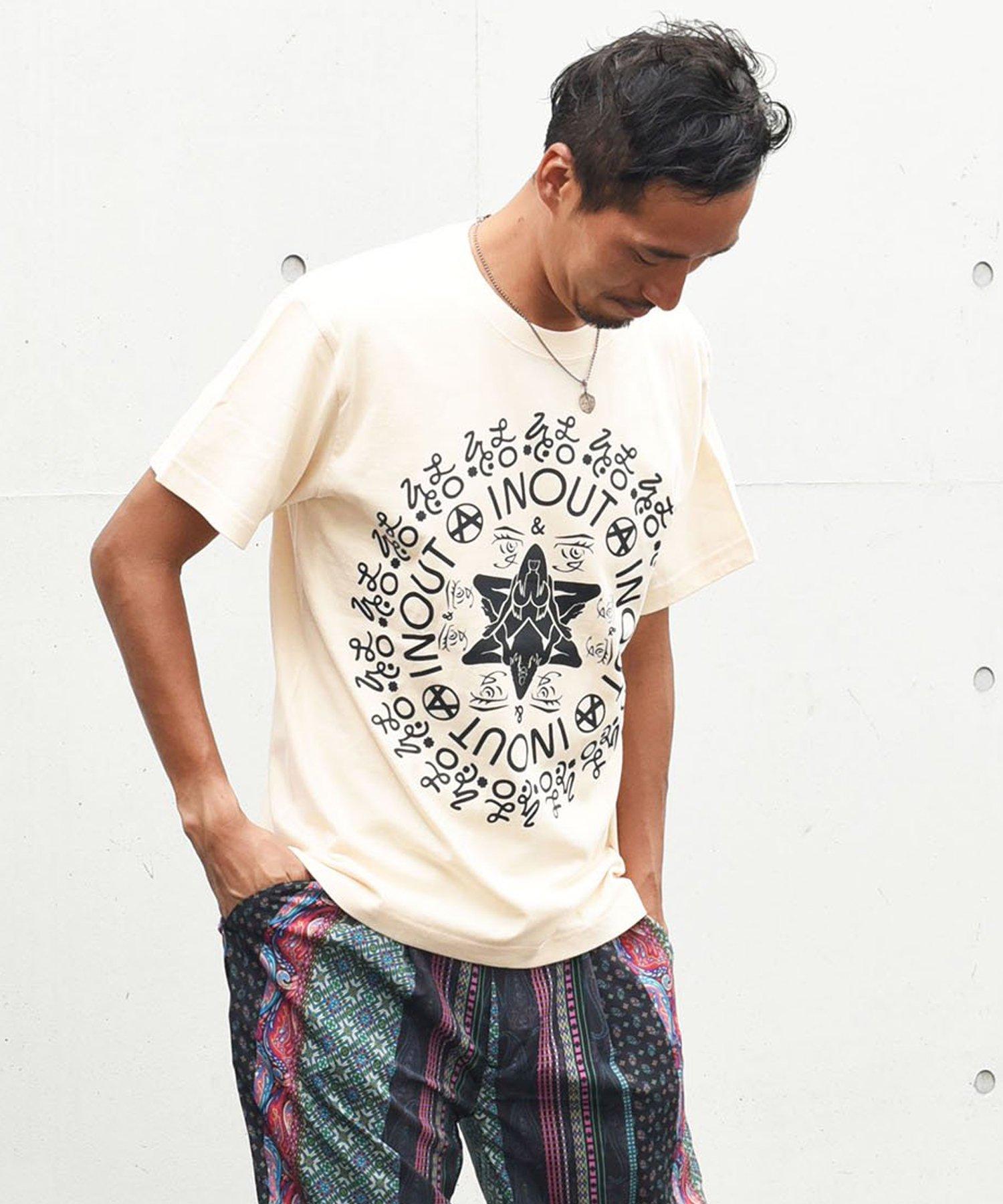 ARIGATO FAKKYU - アリガトファッキュ 愛にまつわるオリジナルグラフィックを一堂に介した手刷りTee / NATURAL