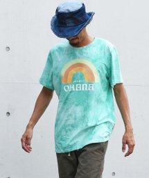 Burnout(バーンアウト )tie-dye Tee OHANA print T-shirts/サマーグリーン