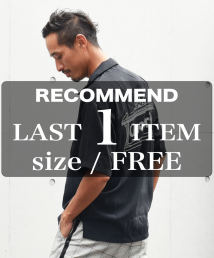 qwerty - クワーティ Open collar shirts / BLACK