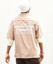 【HALLOWEEN FINALE EVENT 30%off!!】qwerty - クワーティ Open collar shirts / BEIGE