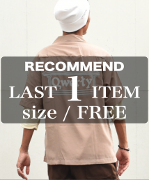 qwerty - クワーティ Open collar shirts / BEIGE