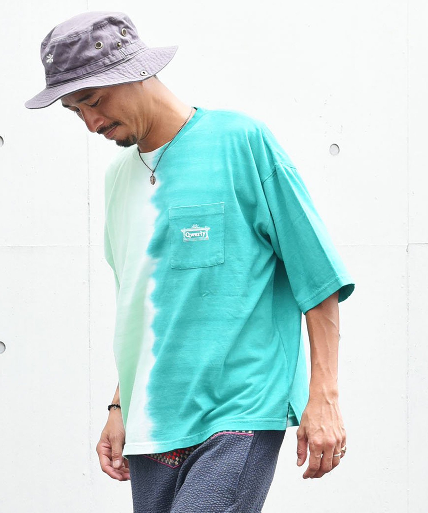 qwerty - クワーティ Q.Kate T-shirt / GREEN