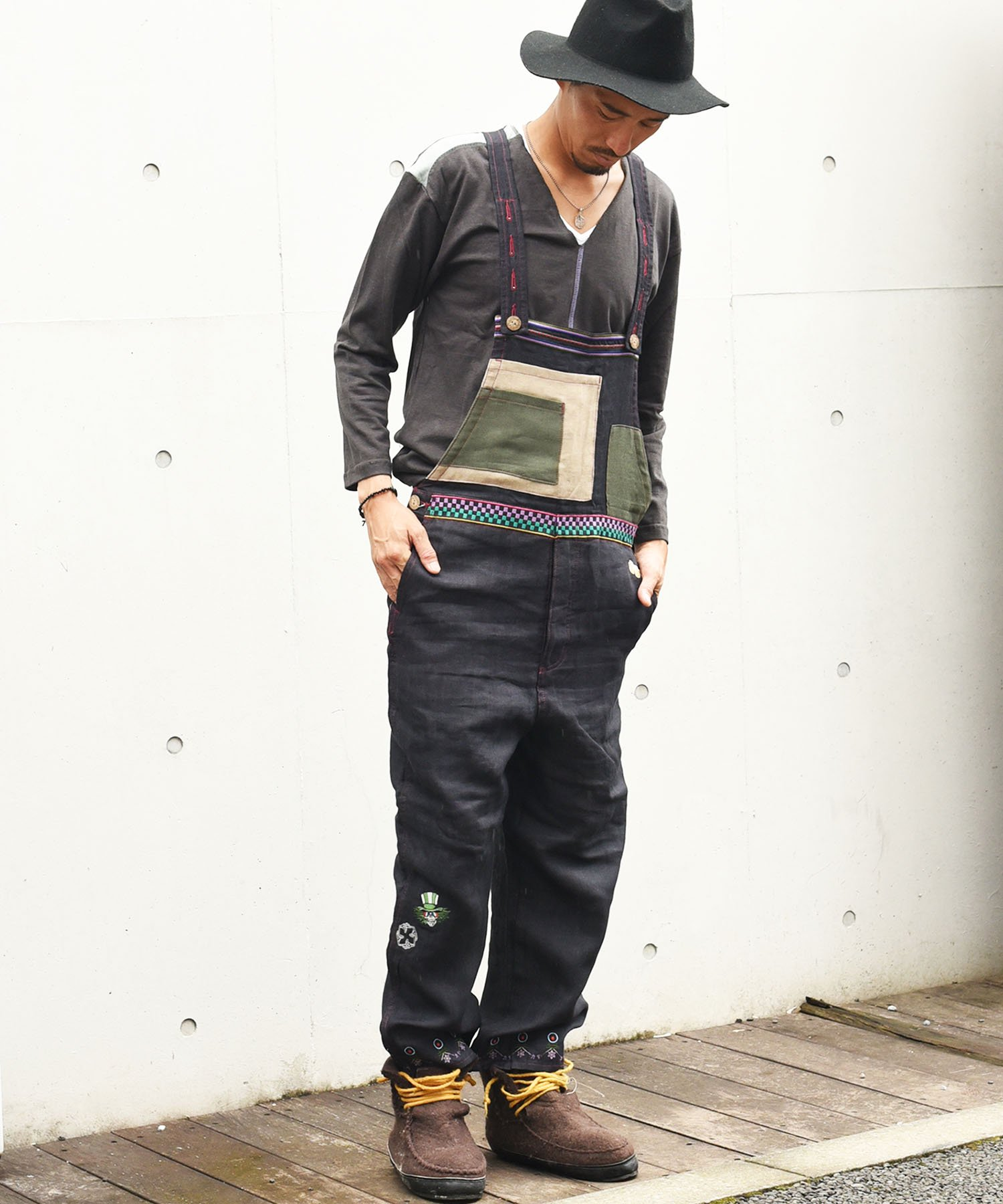 ARIGATO FAKKYU - アリガトファッキュ OVERALL / BLACK