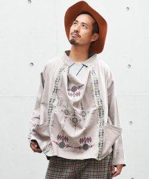 【6周年感謝祭 50%off!】ARIGATO FAKKYU - アリガトファッキュ 極 WIDE SHIRT / BEIGE