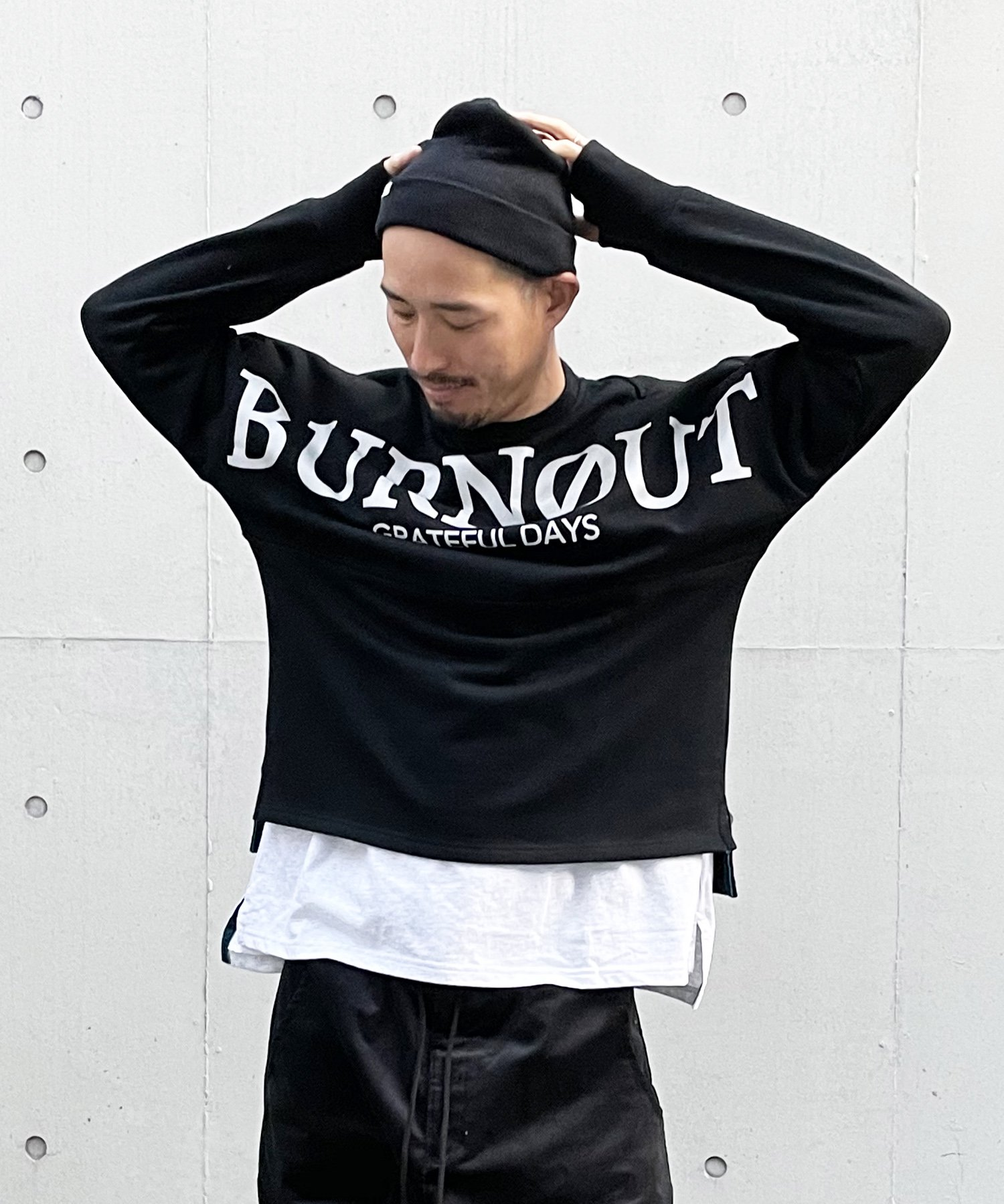 Burnout〔バーンアウト〕 『20/21 Early Spring Collection』 ビックシルエットフットボールジャージ(Black)