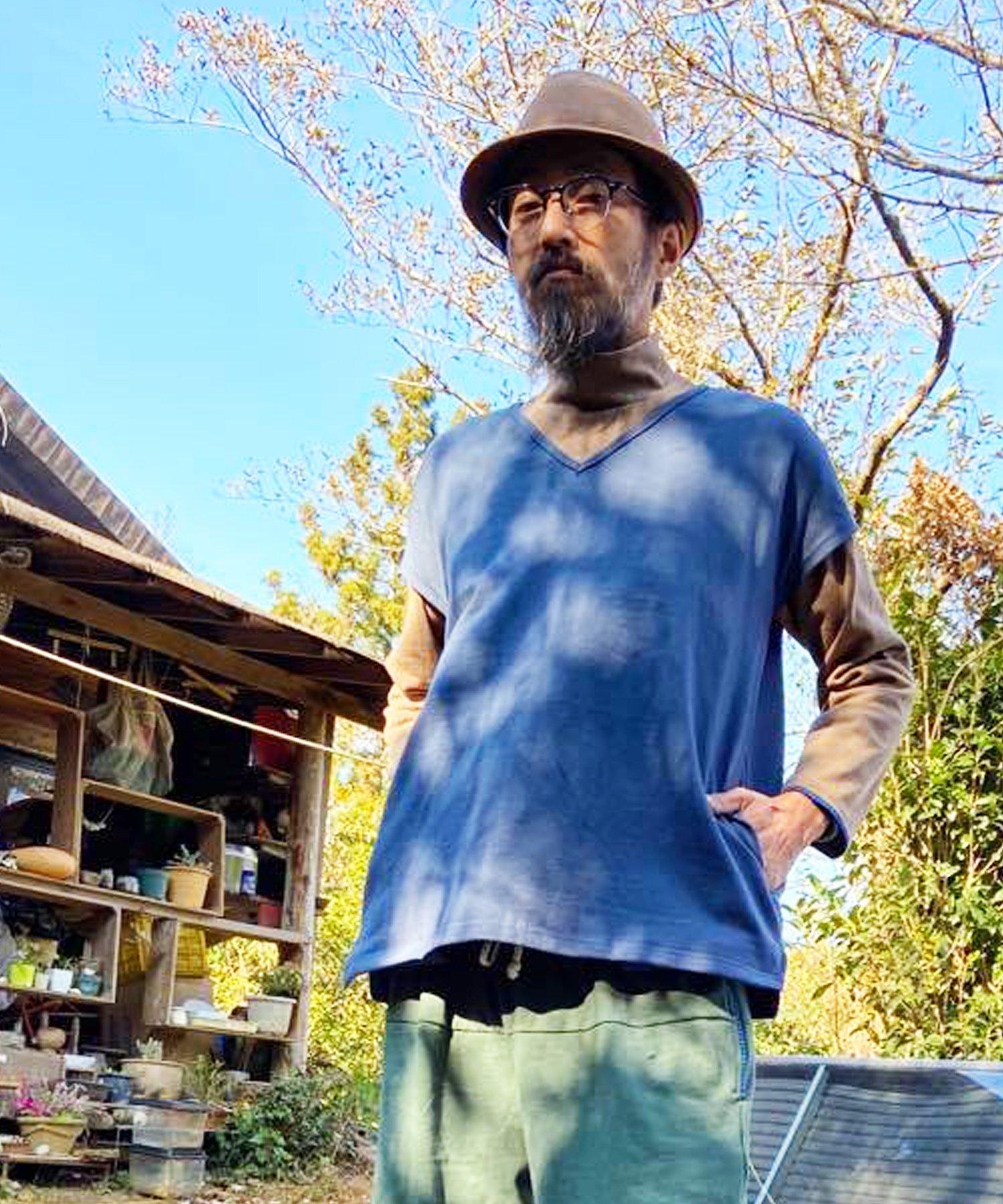 【SUMMER_CLEARANCE】ARIGATO FAKKYU〔アリガトファッキュ〕 Lazy sloppy v-neck no sleeve(4 colors)