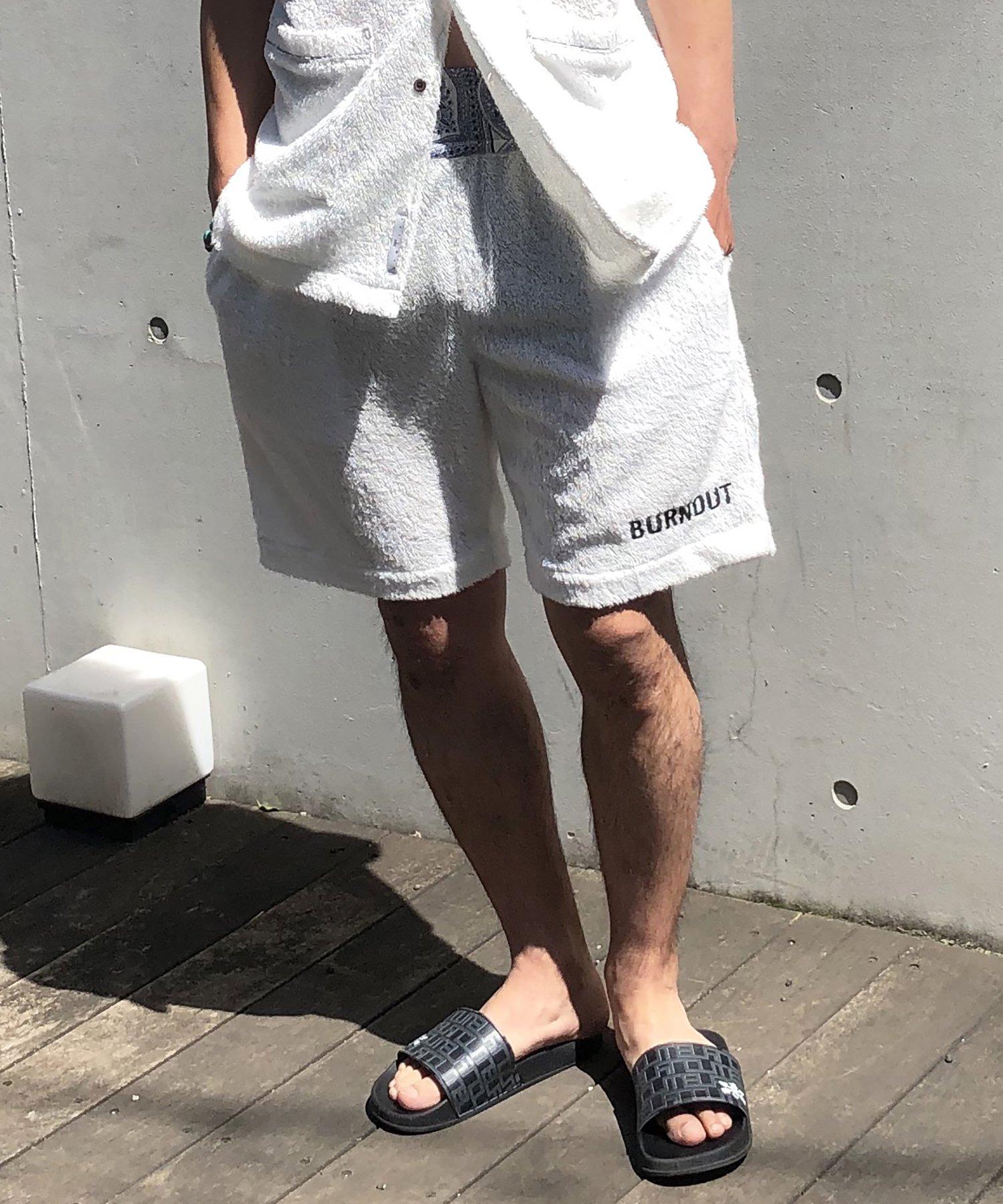 Burnout〔バーンアウト〕 『21' early summer collection』 ボクサーショートパンツ(White)