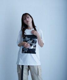 qwerty〔クワーティ〕 3D PT Hide BlackCamo T-shirt(White)