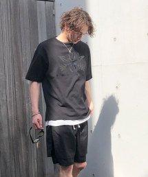 Burnout〔バーンアウト〕 Crossed Arrows Heavy weight  T-shirts(Black)