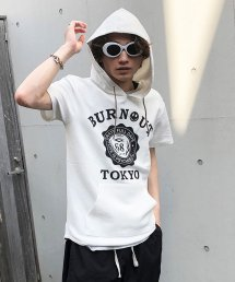 Burnout〔バーンアウト〕 『Burnout COLLEGE』ショートスリーブパーカー(White)
