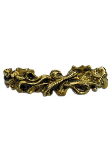 ★受注生産予約 SAHRIVAR(シャフリーヴァル)FlORAL BANGLE(Brass)
