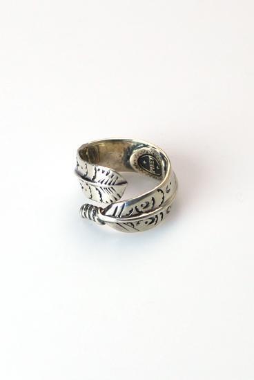 ★受注生産予約 PIKEY(パイキー)Rolled Feather Ring(Silver925)