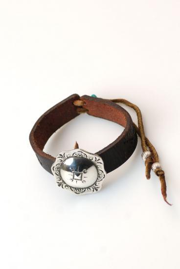 ★受注生産予約 PIKEY(パイキー)Concho Leather Bracelet(Silver925)