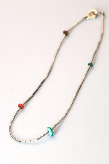PIKEY(パイキー)Silver Tubing Necklace(Silver925)
