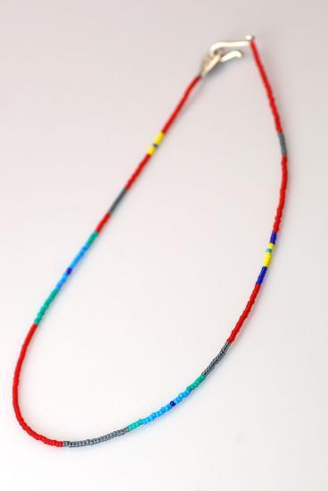 ★受注生産予約 PIKEY(パイキー)Seed Beads Necklace (RED)