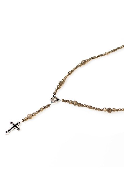 SAHRIVAR(シャフリーヴァル)Filled Cross Smoky Rosary(Silver925 Smokey Quartz)