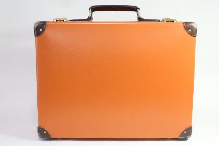 85 美品 グローブ トロッター 16インチ スリムアタッシュ トラベルケース オレンジ